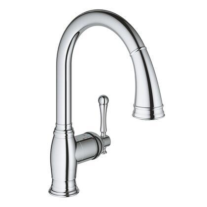 Grohe 33870002 Bridgeford Single-Handle Kitchen Faucet, Starlight