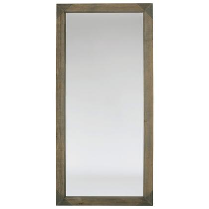 Mirrors Collection 903103 24 inch  x 48 inch  Mirror with Rectangular Shape  Light Grey Accents and Solid Pine Rustic Materials in Light Natural