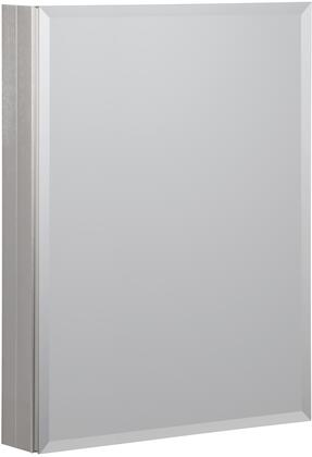 MMC2330-BN 23 inch  x 30 inch  Aluminum Medicine Cabinet with   Beveled Mirror  1 Slow Close Door  3 Interior Adjustable Glass Shelves and Mirrored Interior in Brushed