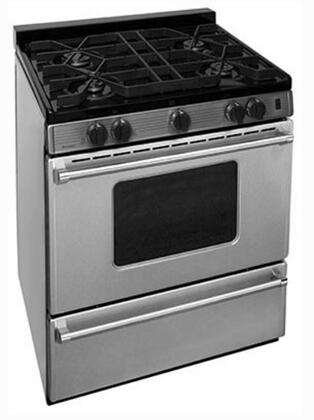 P30B3102PS 30 inch  Pro Series Gas Range with 4 Sealed Top Burners  Separate Broiler Compartment  17 000 BTU Oven Burner and Battery Spark Ignition in Stainless