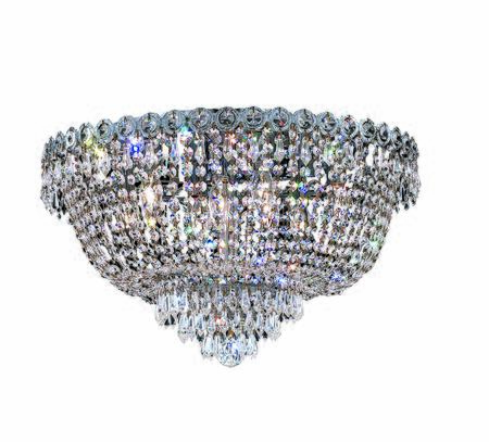 1900f20c/rc 1900 Century Collection Flush Mount D20in H12in Lt: 9 Chrome Finish (royal Cut