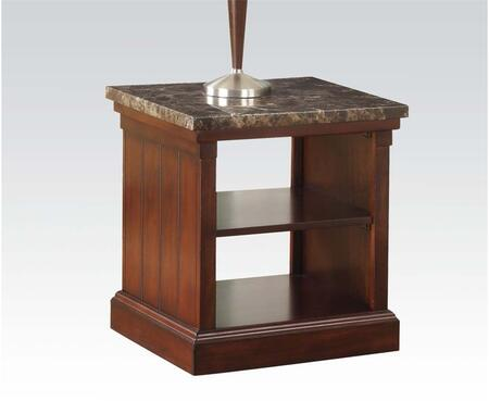 80315 Rodrik End Table with Faux Marble Top in Dark
