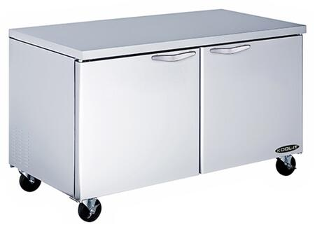KUCF602 60 inch  Undercounter Freezer with 16 cu. ft. Capacity  2 Doors  4 Shelves  1/2 HP  in Stainless