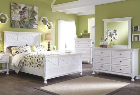 Kaslyn Queen Bedroom Set With Panel Bed  Dresser And Mirror In