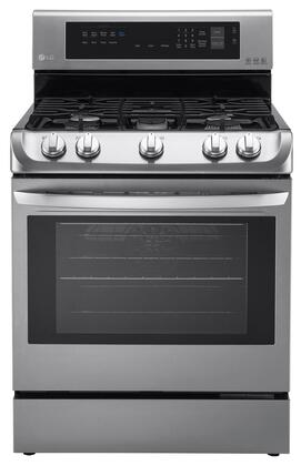 LG 6.3 Cu. Ft. Gas Self-Cleaning Freestanding Range with ProBake Convection Stainless Steel LRG4113ST