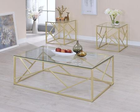 Pamplona Collection CM4017CPN-3PK 3-Piece Living Room Table Set with Coffee Table and 2 End Tables in
