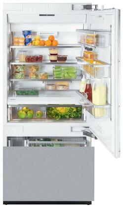 "KF 1903 SF 36"" Energy Star Fully Integrated Bottom Freezer Refrigerator with 18.28 cu. ft. Capacity Adjustable Spill Proof Drop and Lock Shelves  SmartFresh"