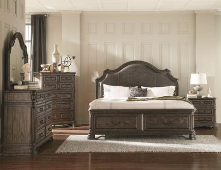 Carlsbad Collection 204040kwset 5 Pc Bedroom Set With California King Size Panel Bed + Dresser + Mirror + Chest + Nightstand In Vintage Espresso