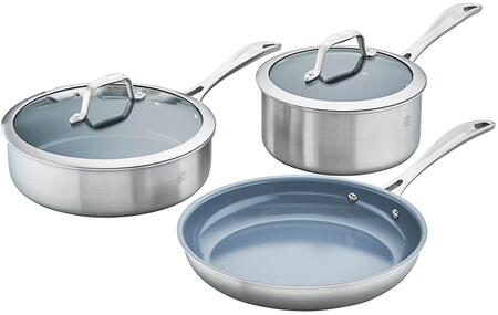 Zwilling 64080-005 Spirit 3-Ply 5-Pc Stainless Steel Ceramic Nonstick Cookware