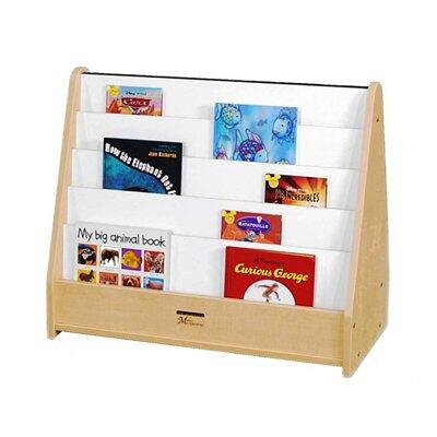 M51025BL Double-Sided Tot Bookstand Maple Finish  Edge Color -