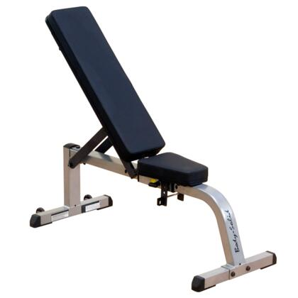 GFI21 Body Solid Heavy-Duty Flat and Incline Bench with Heavy-Gauge Steel Construction and Glide-and-Lock Adjustment