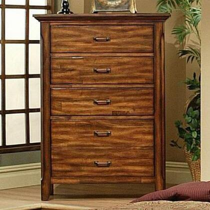 210625 Marissa County 5 Drawer Chest with Solid Cherry Tops and Drawer Fronts  English Dovetail Drawer Boxes  and a Deep Bottom Drawer in a Cumin Spice