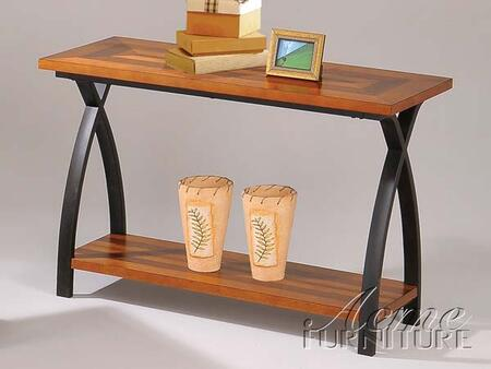 18439 Darron Oak and Black Sofa Table with