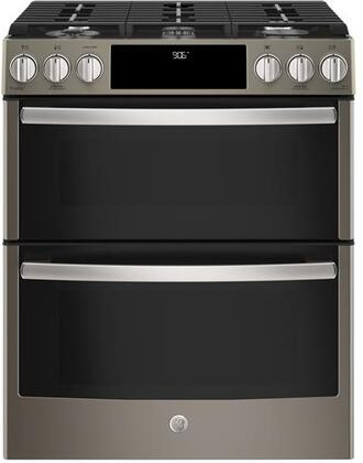 GE Profile PGS960EELES 30 Inch Slide-in Gas Range with Sealed Burner Cooktop, 6.7 cu. ft. Primary Oven Capacity in Slate