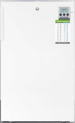 FS407LMED 20 inch  Medically Approved Compact Freezer with 2.8 cu. ft. Capacity  Factory Installed Lock  High Temperature Alarm  Hospital Grade Cord and Pull-Out