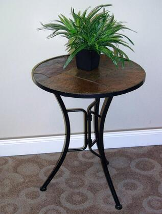 601404 Stone Collection Slate Round Top End