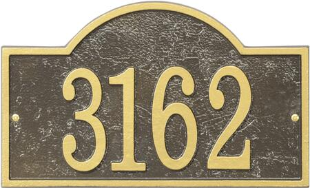 Fast & Easy Collection FEA1OG Arch House Numbers Plaque with Cut-Out Shape  Made in the USA  Alumi-Shield All Weather Coating and Aluminum Material in Bronze