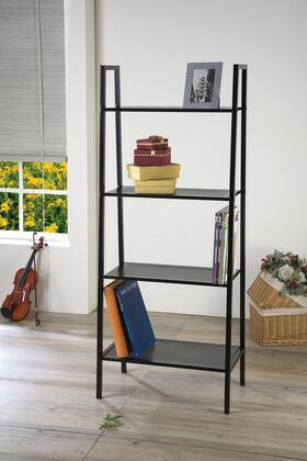 Eason Collection 92158 24 Shelf Rack with 4 Shelves  Industrial Style and Metal Frame Construction in Black