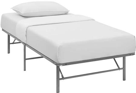 Horizon Collection MOD-5427-SLV Twin Size Platform Bed Frame with Non-Marking Foot Caps  Modern Style and Heavy Duty Stainless Steel Frame Construction in