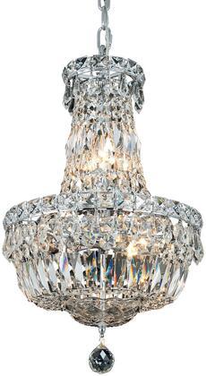 V2528D12C/SA 2528 Tranquil Collection Pendant Ceiling Light D:12In H:16In Lt:6 Chrome Finish (Spectra   Swarovski