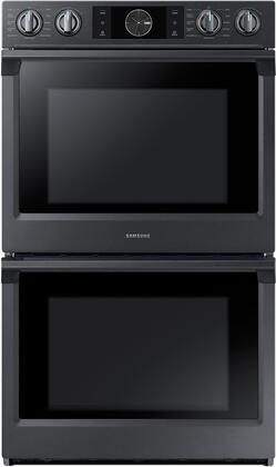 "NV51K7770DG 30"" Double Oven with 10.2 cu. ft. Total Capacity  Dual Fan True Convection  Steam Cooking  Wifi  in Black Stainless"
