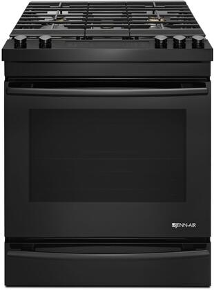 JGS1450DB 30 inch  Slide-In Gas Range with 5 Sealed Burners 7.1 cu. ft. Capacity  Baking Drawer  3 Oven Racks  and Self Clean  in