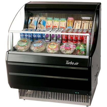 TOM30SBSF 28 Open Display Merchandiser with Modern Design  Environmental Friendly Refrigeration System  Stainless Steel Front Panel  Anti-Rust