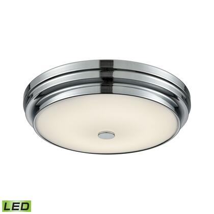 FML4725-10-15 Garvey Round LED Flushmount In Chrome And Opal Glass -
