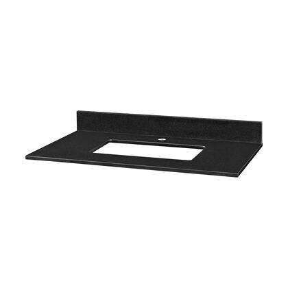GRUT37RBK1_Stone_Top__37inch_for_Rectangular_Undermount_Sink__in_Black_Granite__with_Single_Faucet