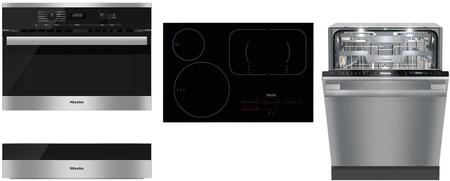 4-Piece Kitchen Package with H6100BM 24