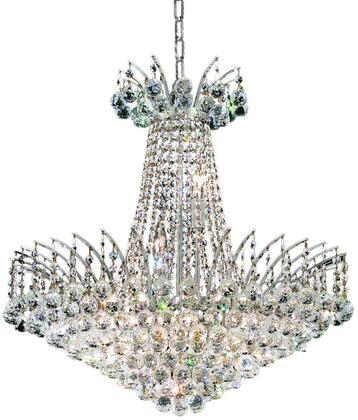 V8031D24C/SA 8031 Victoria Collection Chandelier D:24In H:24In Lt:11 Chrome Finish (Spectra   Swarovski