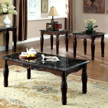 Brampton Collection CM4292EX-3PK 3-Piece Living Room Table Set with Coffee Table and 2 End Tables in