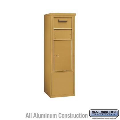 3910SX-1CGF Free-Standing 4C Horizontal Collection Box ADA Height Compliant (Includes 3710S-1CGF and 3910SX-GLD Enclosure) - 10 Door High Unit (52-3/4 Inches)