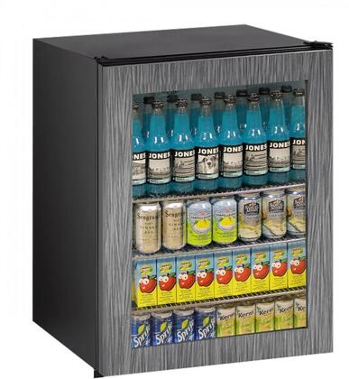 UADA24RGLINT00A 24 inch  Glass Door Refrigerator with 5.4 cu. ft. Capacity  70 Bottle Capacity  4 Chrome Plated Wire Shelves  Glass Door  Interior LED Lighting
