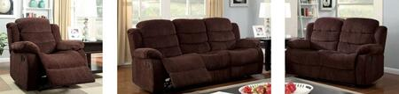 Millville Collection CM6173-SLR 3-Piece Living Room Set with Motion Sofa  Motion Loveseat and Recliner in Dark