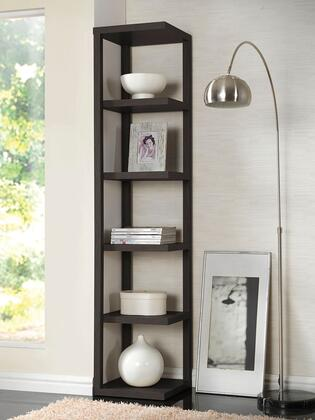 Mileta Collection 92090 15 inch  Bookcase with 5 Shelves  Hollow Board PU Paper and Medium-Density Fiberboard