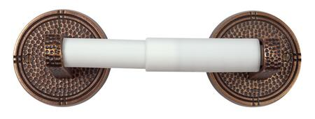 CF176AN Solid Copper Toilet Tissue Holder with Round Backplates in Antique Copper