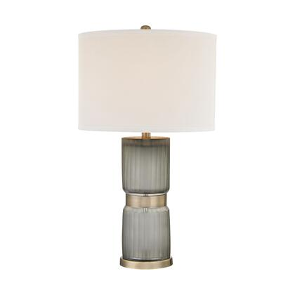 D2911 Cotillion 1 Light Table Lamp in Grey And Antique Brass