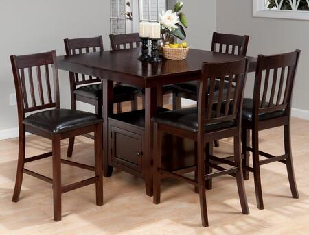 933-48 Tessa Counter Height Square Dining Table with Storage Base with Cabinet Door in