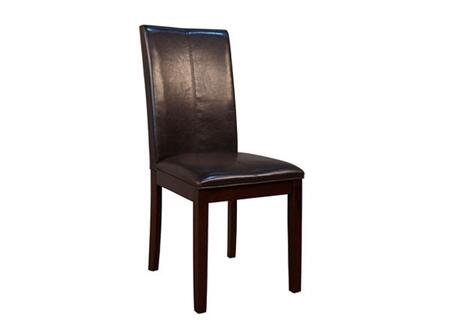 PRSES224K Curved Back Parson Chair  Brown Bonded