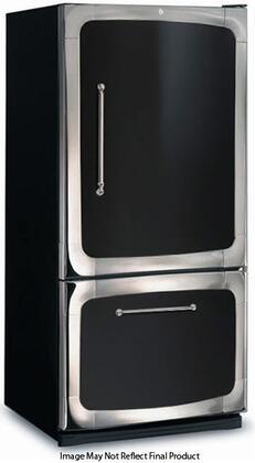 "3015-00R-BLK 30"" 18.5 cu. ft. Capacity Freestanding Bottom Freezer Refrigerator  Digital Temperature Control  Auto Defrost  Glass Shelves and Right Hinge Door"
