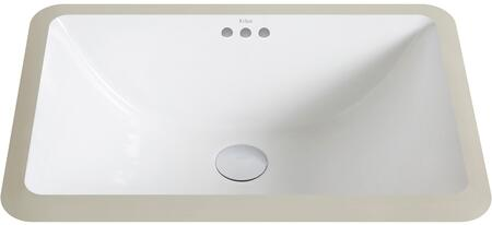KCU241 Elavo Series 21 inch  Undermount Bathroom Sink with Vitreous China Construction  Overflow  and Easy-to-Clean Polished