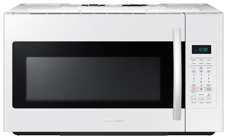 "ME18H704SFW 30"" Over The Range Microwave Oven with 1.8 cu. ft. Capacity  1000 Cooking Watts  10 Power Levels  Sensor Cooking Options  Ceramic Enamel Interior"