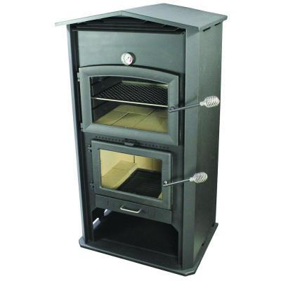 "PW100 Indoor/Outdoor Wood Fired Pizza Oven With 1.6 cu. ft. Space  6"" Flue  Integrated Bottom Cookware Storage Area And Adjustable Rack  in"