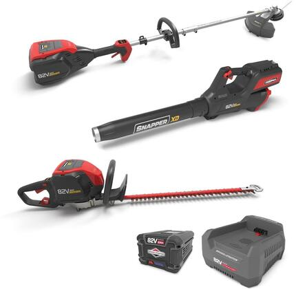 1687886 XD 82V Max Total Yard Bundle with String Trimmer  Leaf Blower  Hedge Trimmer  2 Ah Batter and Rapid Charging Station in Black and