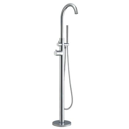 WHT7369S-C Freestanding single lever tub filler with integrated diverter valve and hand held