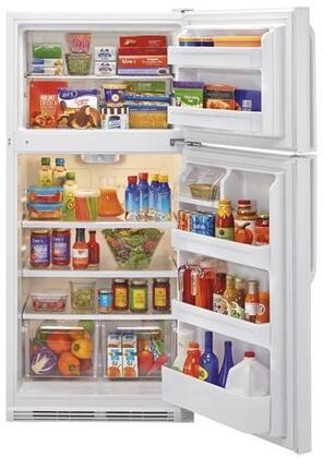 HRT18RCPW 30 inch  Wire Shelves Top Mount Refrigerator with 18.1 cu. ft. Capacity  Dual Knob Mechanical Control  Clear Fresh Food Crisper  in