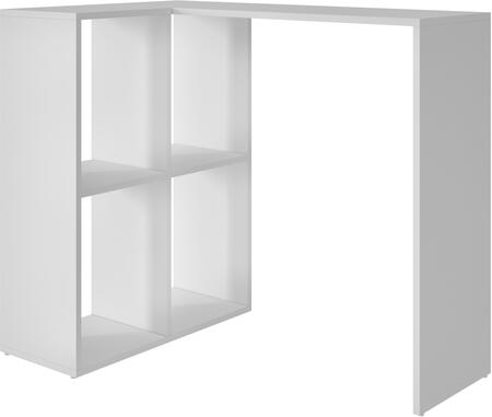 "Pescara Collection 76AMC6 35"" Cubby Desk with 4 Open Cubbies and Desk Space in"