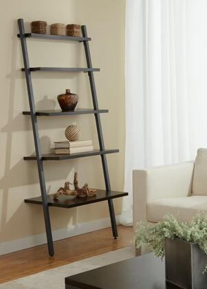 B3071-ESP Espresso Leaning Ladder 5-Shelf