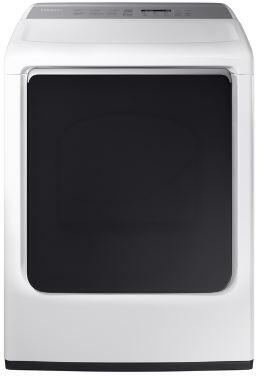 Samsung DVE54M8750W 7.4 Cu. Ft. White Electric Dryer with Steam
